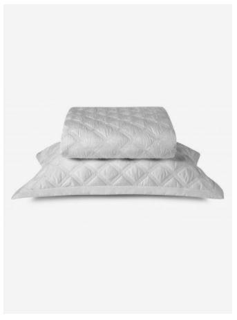 Colcha Com Porta Travesseiro By The Bed Branco Casal