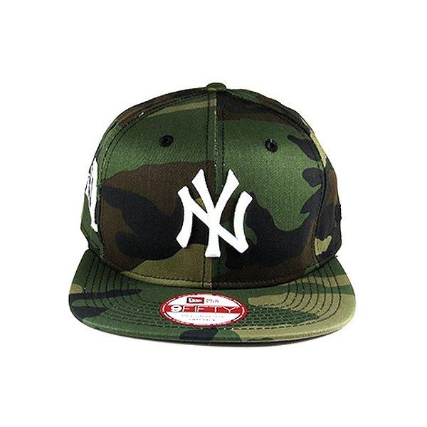 Boné New Era Snapback New York Yankkes-Camuflado