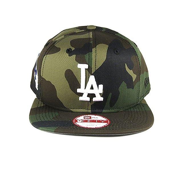 Boné New Era Snapback Los Angeles Dodgers-Camuflado