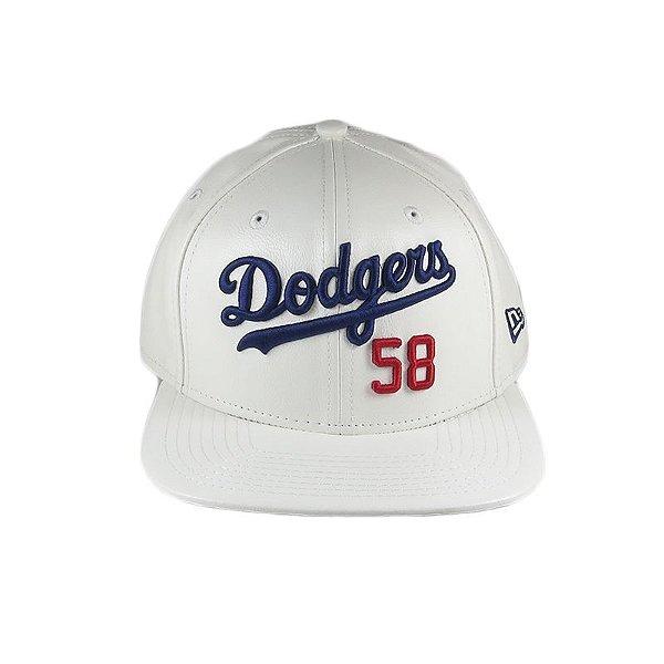 Boné New Era Snapback Dodgers 58-Branco