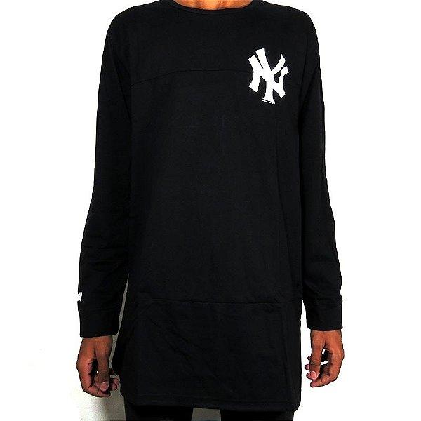 Camisa Manga Longa New Era New York Yankkes-Preta