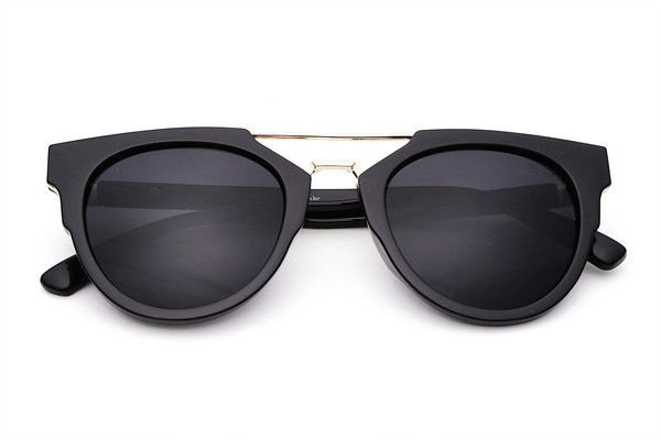 The Mega-Óculos de Sol Da Moda Com Top Bar Grande