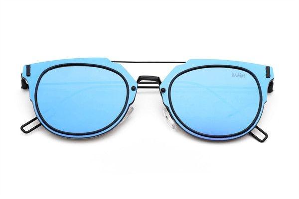 THE SLIM-Óculos de Sol Estilo Aviador Steampunk Retrô Com Top Bar Azul Violeta
