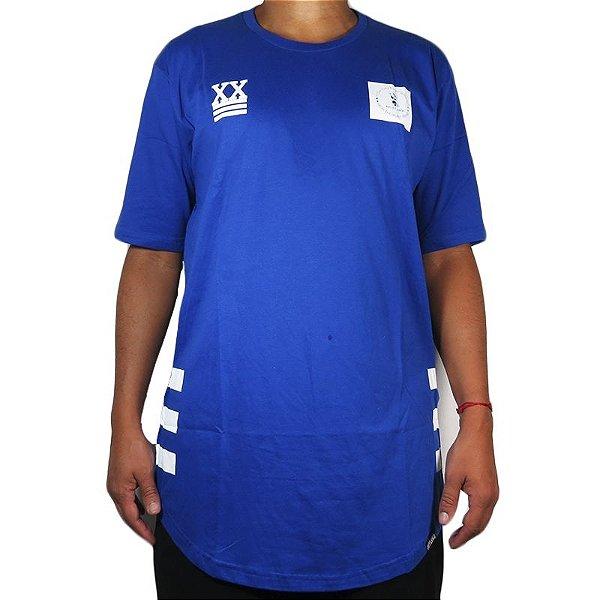 Camiseta Outlawz Over Sized Bullshit-Azul