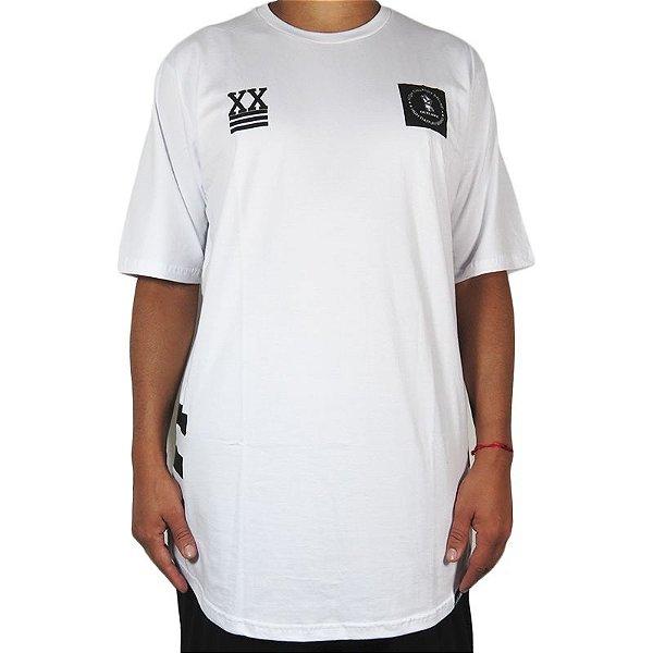 Camiseta Outlawz Over Sized Bullshit-Branca