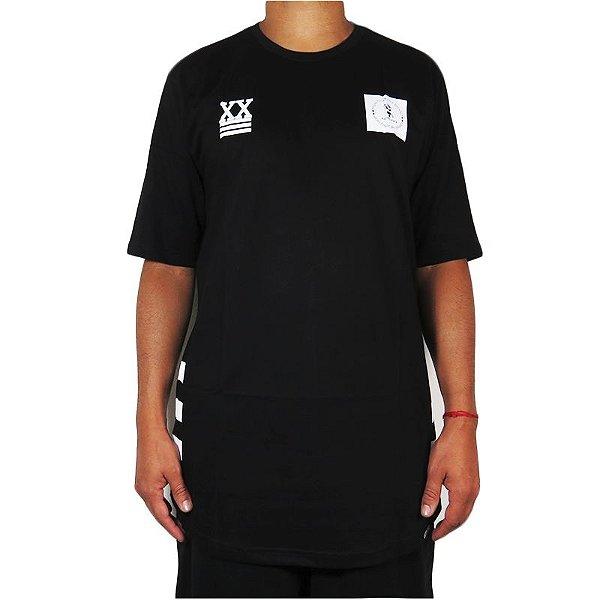 Camiseta Outlawz Over Sized Bullshit-Preta