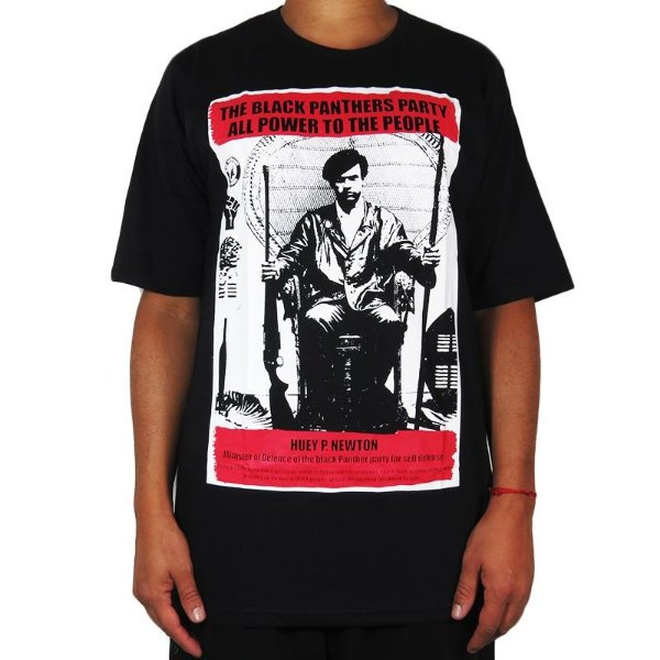 Camiseta Outlawz Black Panthers Collection Huey-Preta