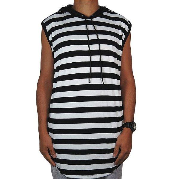 Camiseta Outlawz Long Line Hood-Stripe