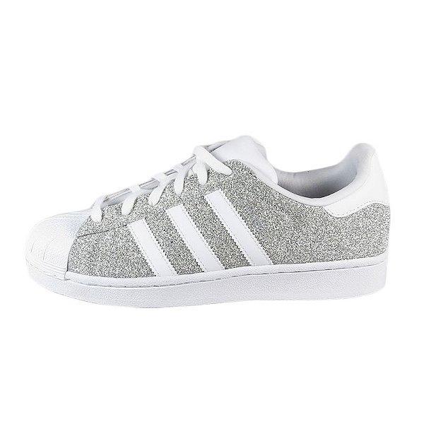 Tênis Adidas Superstar W Feminino-Silver/White