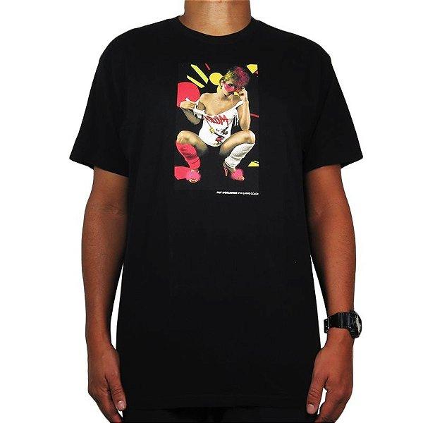Camiseta Huf Living Color-Preta