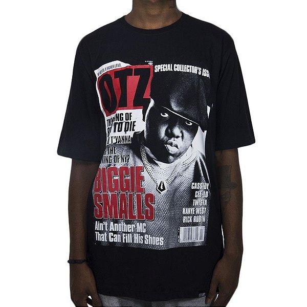 Camiseta Outlawz Magazine Biggie Smalls-Preta