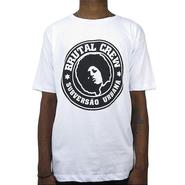 Camiseta Outlawz X Bdr Brutal Crew Logo-Branca