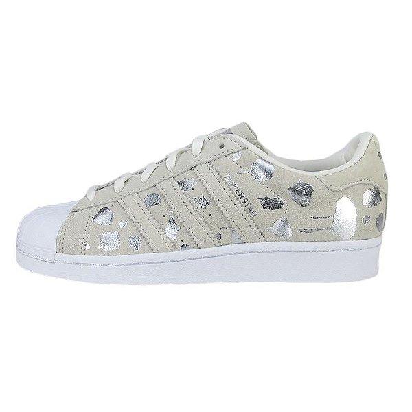 Tênis Adidas Superstar W-White/Metsil