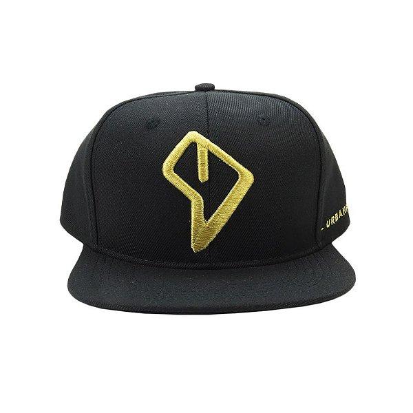 Boné Urbanfor Snapback Logo Dourado