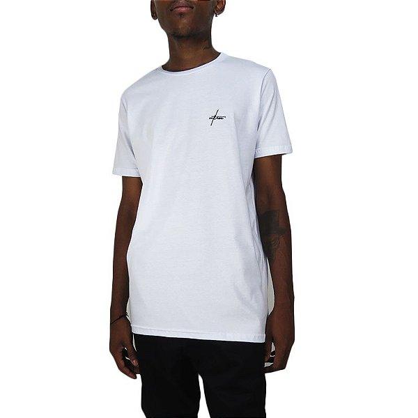 Camiseta Outlawz Long Line Signature-Branca
