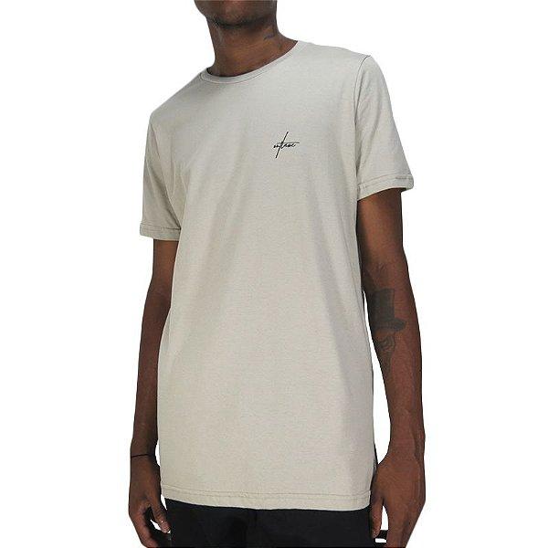 Camiseta Outlawz Long Line Signature-Areia