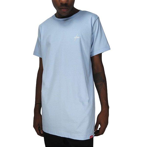 Camiseta Outlawz Long Line Signature-Sky