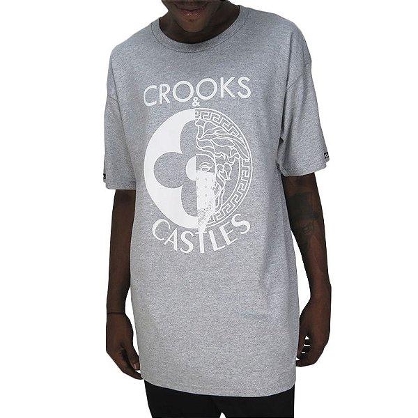 Camiseta Croocks & Castles Heather-Cinza