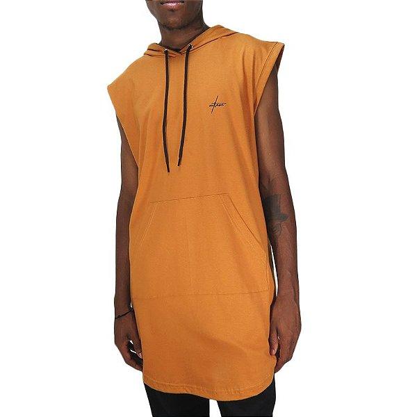 Camiseta Outlawz LongLine Hood-Khaki