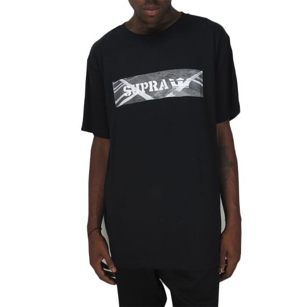 Camiseta Supra Streets Regular Tee-Preta