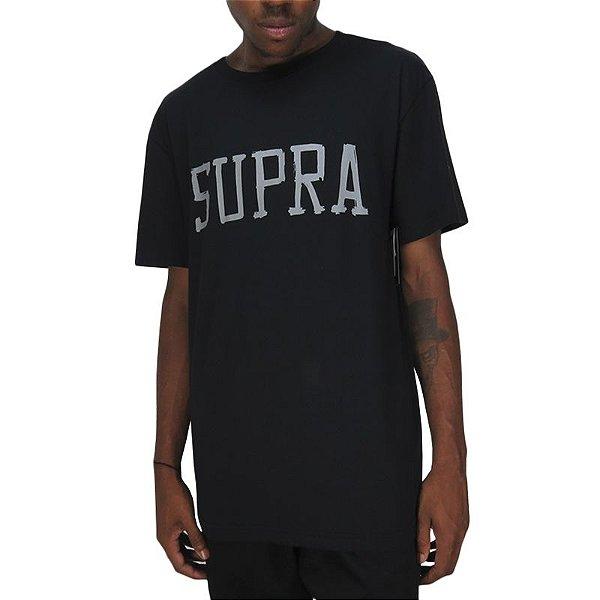 Camiseta Supra Type-Preta