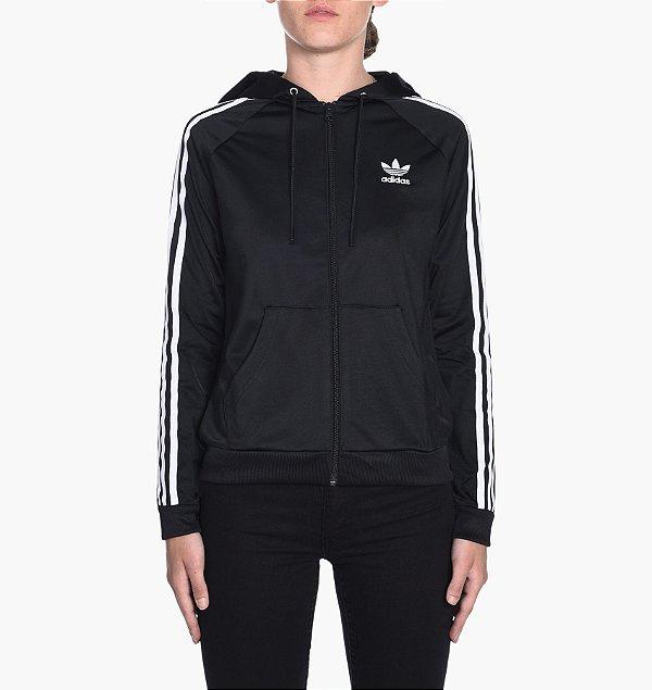 Jaqueta Adidas Originals Slim FZ Hoodie - Preto