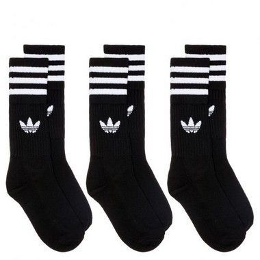 Meia Adidas Solid Crew Pack C/ 3 Pares