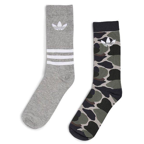 Meia Adidas T Crew Sock AOP C/2 Pares