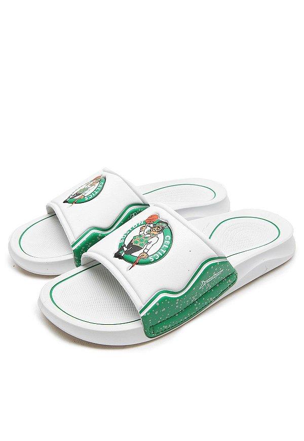Chinelo Slide Rider Infinity NBA Gaspea Boston Celtics Branco