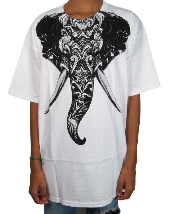 Camiseta Rook Brand Roll Tide Premium-Branca