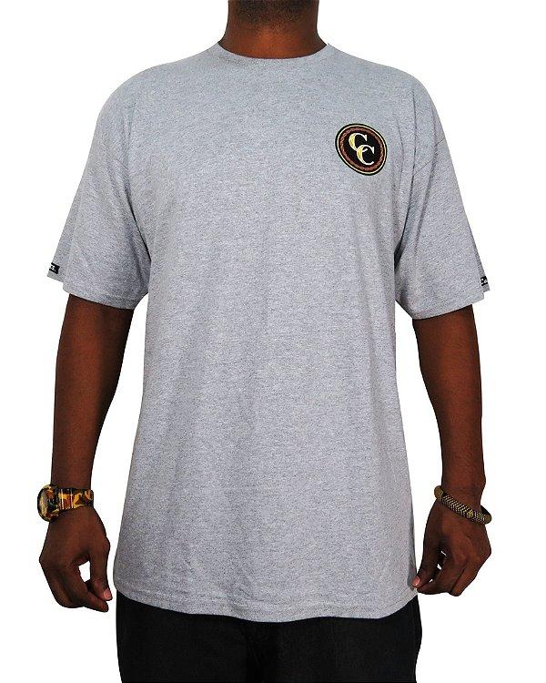 Camiseta Crooks & Castles Jesus Piece Mosaic-Cinza Mescla