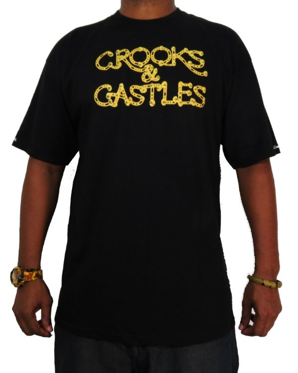 Camiseta Crooks & Castles Chaining Day-Preta