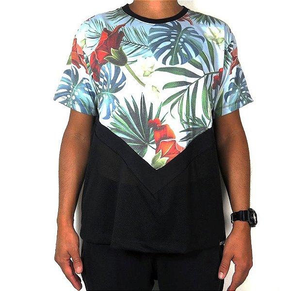 Camiseta Outlawz Visionary-Flowers Blue
