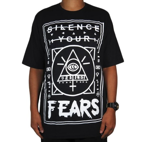 Camiseta Outlawz Silence Your Fears-Preta