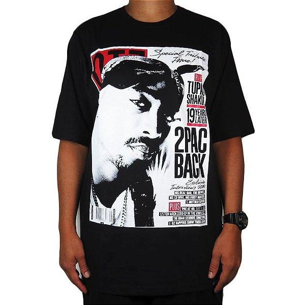 Camiseta Outlawz Magazine Tupac-Preta