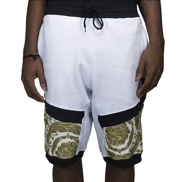 Bermuda Moletom Otz Knee Dry - Barroc White