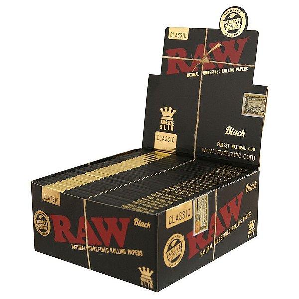 SEDA RAW CLASSIC BLACK KING SIZE SLIM (CAIXA)