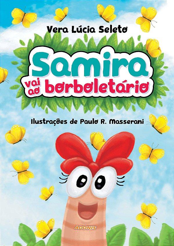 Samira vai ao borboletário