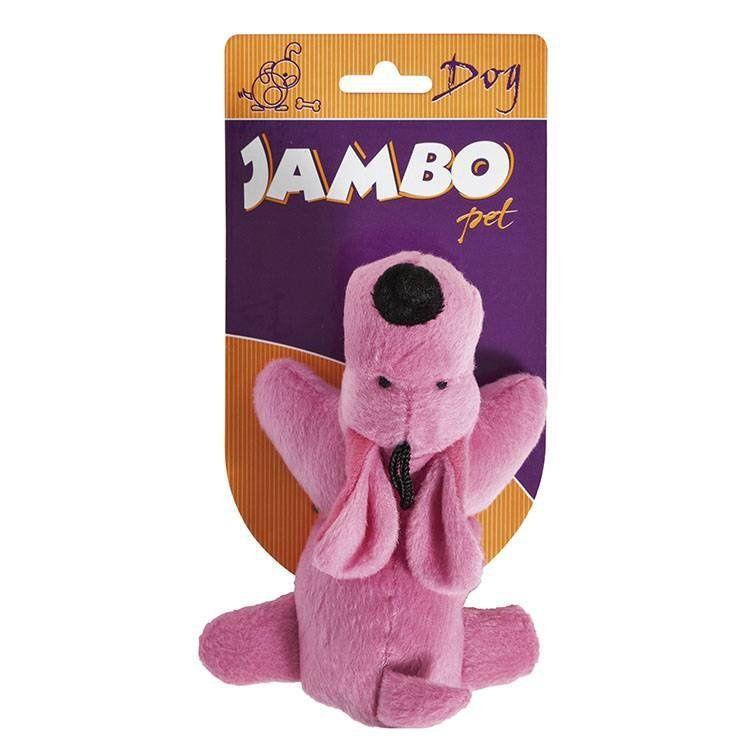 Brinquedo Jambo Mordedor Pelucia Cachorrinho Rosa