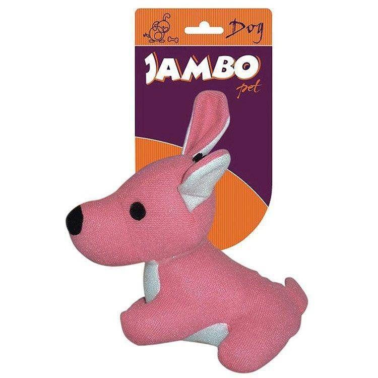 Brinquedo Jambo Mordedor Pelucia Fun Dog Rosa