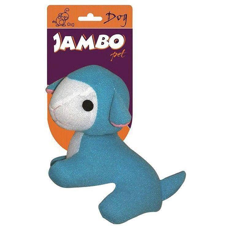 Brinquedo Jambo Mordedor Pelucia Fun Ovelha Azul
