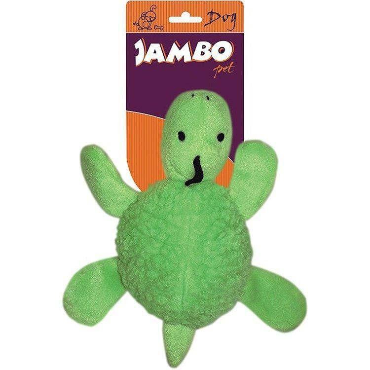 Brinquedo Jambo Mordedor Pelucia Fun Tartaruga Verde Claro