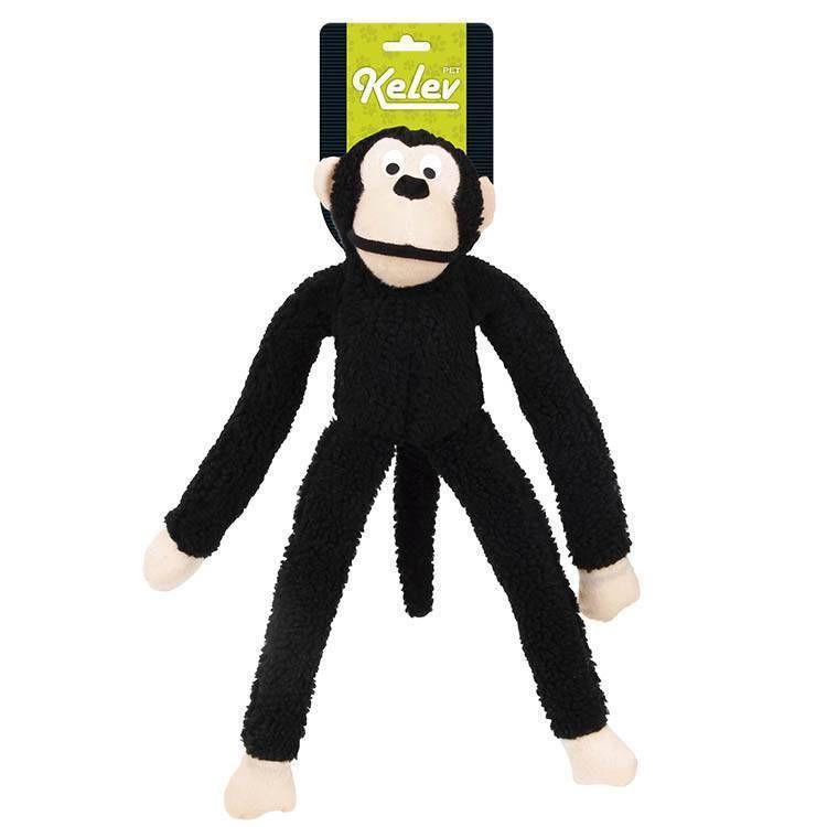 Brinquedo Jambo Mordedor Pelucia Macaco Grande Preto Kelev