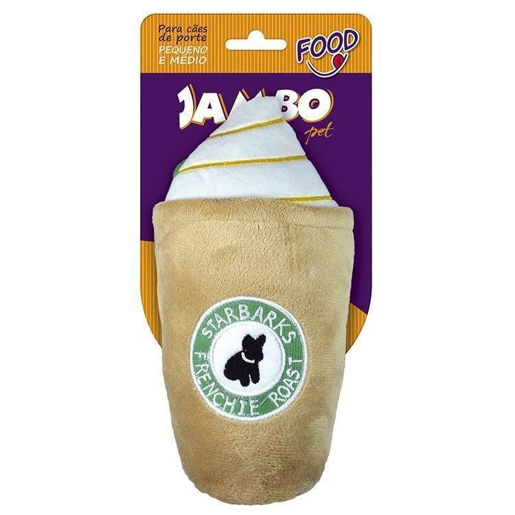 Brinquedo de Cachorro Copo Starbarks Marrom Grande Jambo Pet