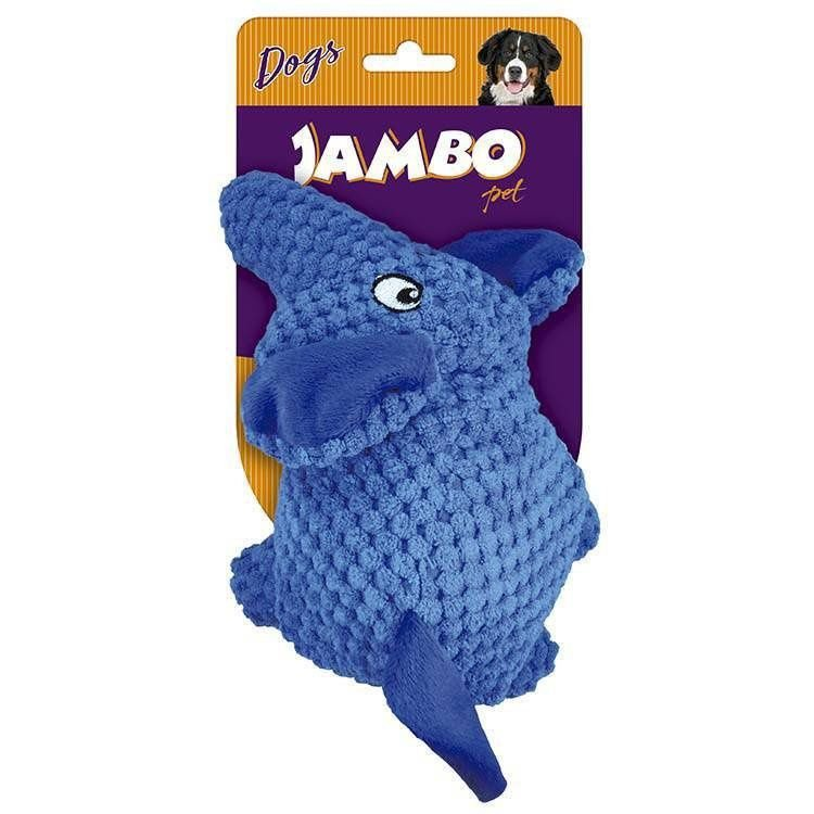 Brinquedo Mordedor Pelúcia Tex Elle Azul Jambo Pet
