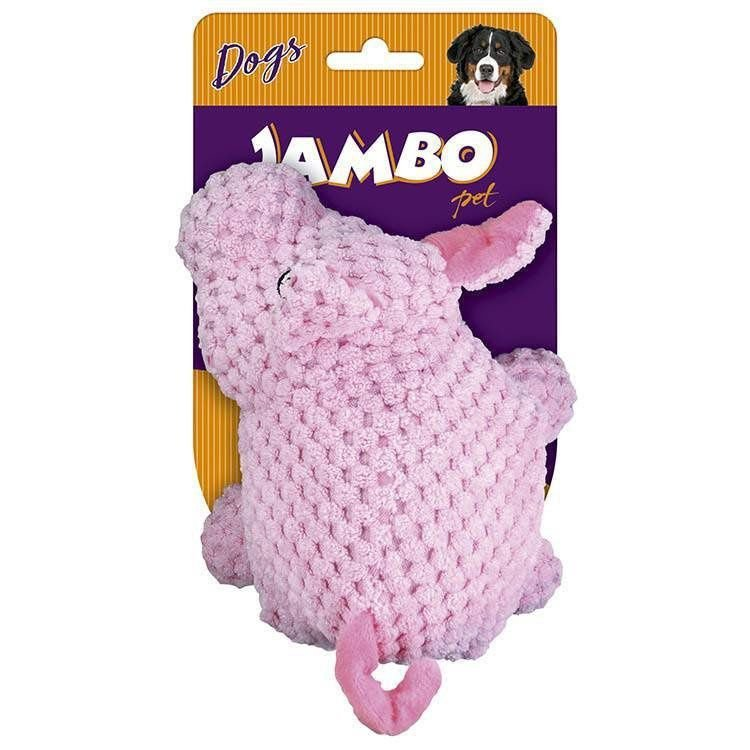 Brinquedo Jambo Mordedor Pelucia Tex Pig Rosa