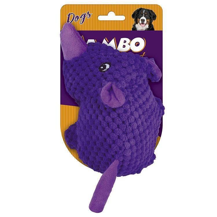 Brinquedo de Cachorro Pelúcia Tex Rino Lilas Jambo Pet
