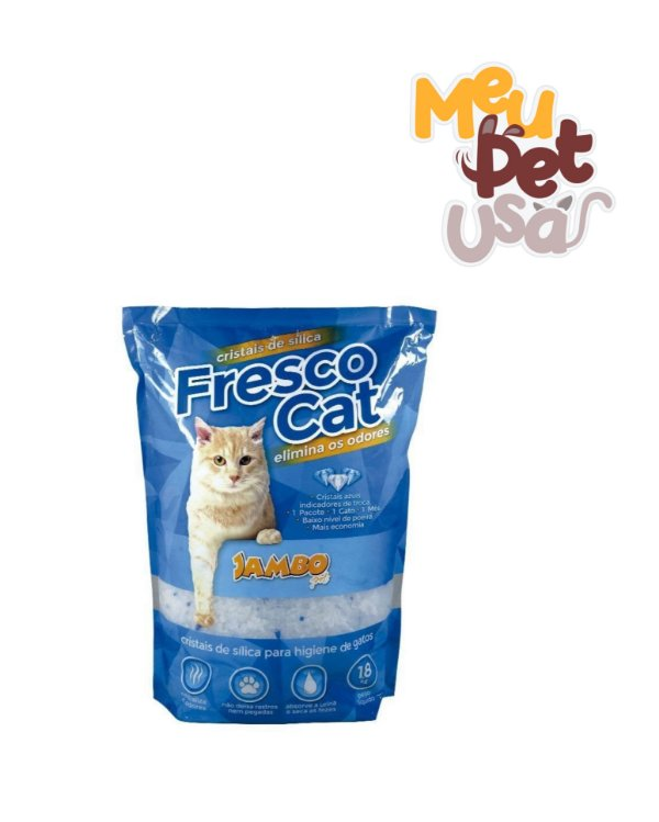 Cristais de Sílica Para Gatos Fresco Cat 1,8kg - Jambo Pet