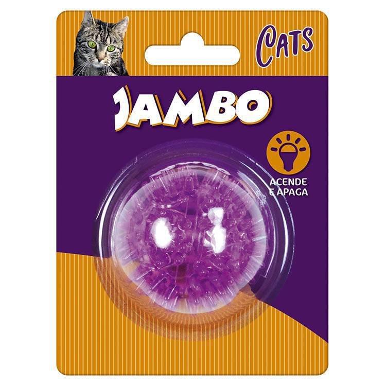 Brinquedo Para Gato Jambo Bola Luz Espinho Mini Roxo