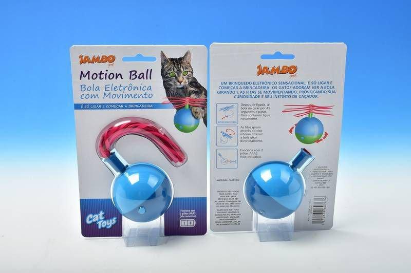 Brinquedo Para Gato Jambo Bola Motion Cat Ball Azul